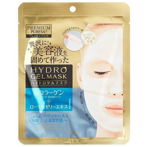 UTENA Маска для лица PREMIUM PURESA с коллагеном и маточным молочком, мягкая упаковка,1 шт.*25гр.