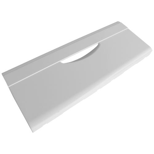 Панель ящика морозильной камеры холодильника Атлант, без рисунка, шелкографии, не откидная, белая, 21х47см