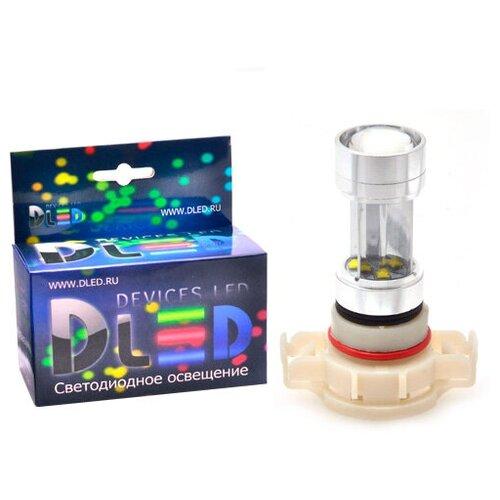 Светодиодная автомобильная лампа H16 - PSX24W - 8 CREE + Линза (1 лампа в упаковке)