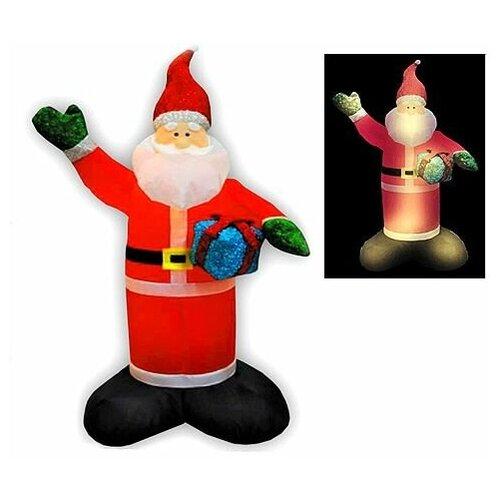 Надувная фигура санта с блестящим подарком, 1,2 м, Торг-Хаус F214-S1/1.2