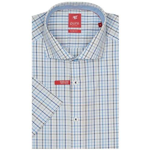 Рубашка pure размер L белый/голубой/серый
