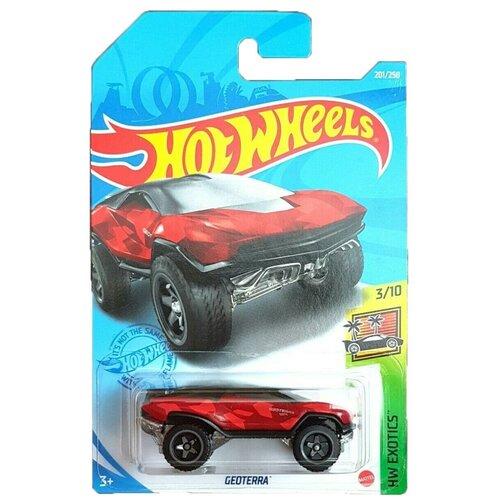 Hot Wheels Базовая машинка Geoterra, красная
