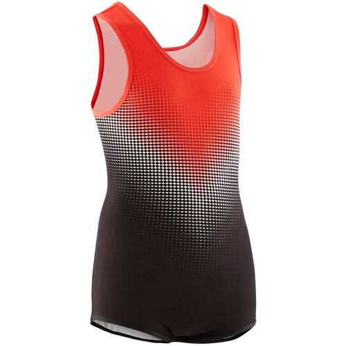 Гимнастический костюм (леотард) для спортивной гимнастики мужской черно-красный 6