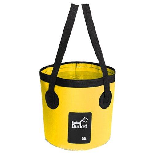Водонепроницаемая складная сумка-ведро Nuobi Folding Bucket (для дачи, похода, туризма) (Желтый (20л))