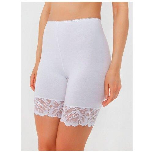 Alla Buone Трусы панталоны высокой посадки с кружевом, размер XL(50), bianco