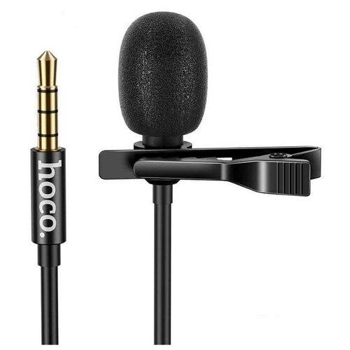 Микрофон петличный HOCO DI02 2м черный