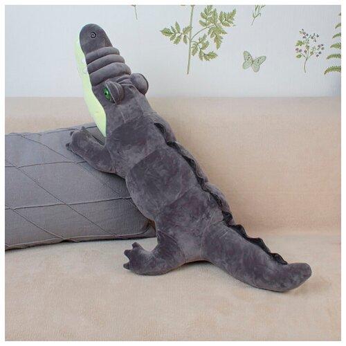 Мягкая игрушка Крокодил 95 см Серый