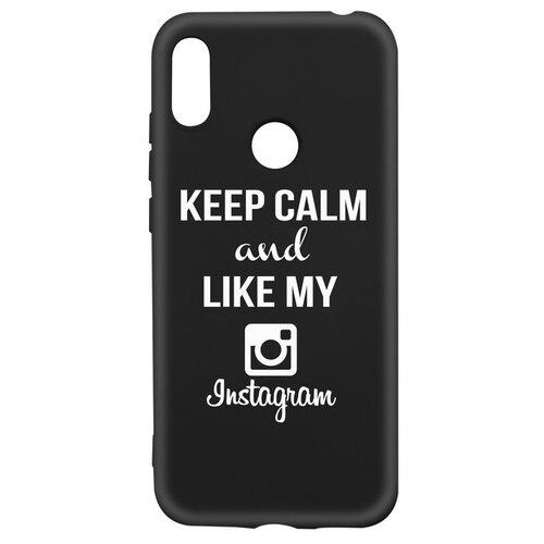 Фото - Чехол-накладка Krutoff Silicone Case Instagram для Huawei Y6 (2019)/ Y6s/ Honor 8A/ 8A Pro/ 8A Prime черный чехол для honor 8a 8a pro g case slim premium book черный