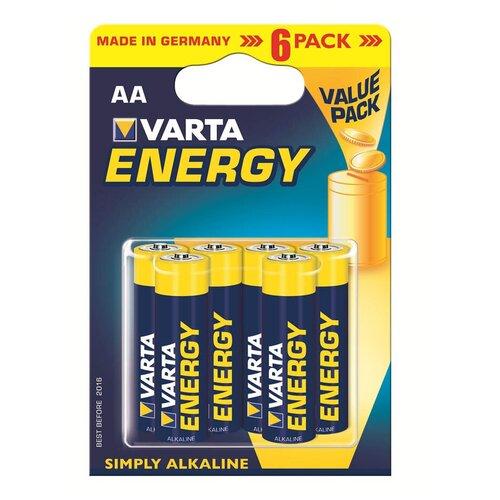 Фото - Батарейка VARTA ENERGY AA бл 6 батарейка varta energy d lr20 бл 2
