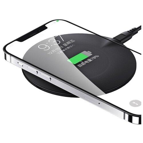 Ультратонкое беспроводное зарядное устройство Usams US-CD149 для быстрой зарядки 15 Вт, цвет- черный