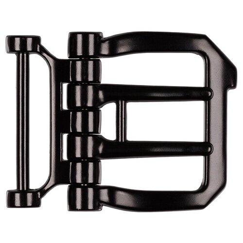 Пряжка для мужского ремня Micron, 60x50 мм, цвет:№14 шлифованный черный никель, арт. GB 1616