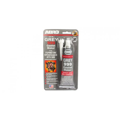 ABRO Герметик прокладок 999 высокотемпературный серый 85 гр