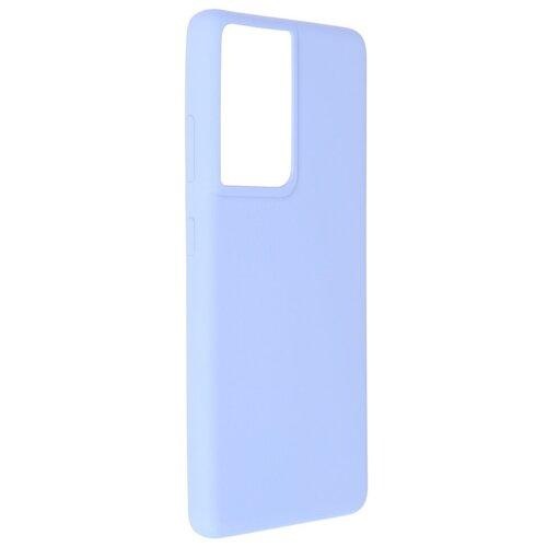 Чехол Pero для Samsung Galaxy S21 Ultra Liquid Silicone Light Blue PCLS-0038-LB