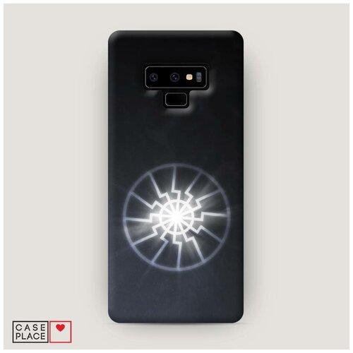 Чехол Пластиковый Samsung Galaxy Note 9 Черное солнце