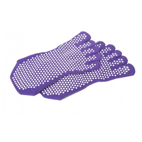 Носки противоскользящие для занятий йогой закрытые, фиолетовые BRADEX SF 0274