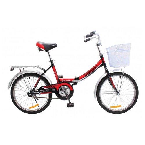 Велосипед Torrent Sputnik + корзина, черн-красный