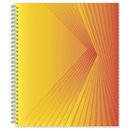 Тетрадь общая A5 на спирали в клетку Attache Lines Orange, 96 листов (оранжевая) тетрадь общая attache lines waves а5 96 листов в клетку на спирали 4 шт