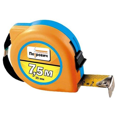 Рулетка в пластиковом корпусе Lazur П086 петрович (Артикул: 4100003140; Размер 7,5х25 м/мм)