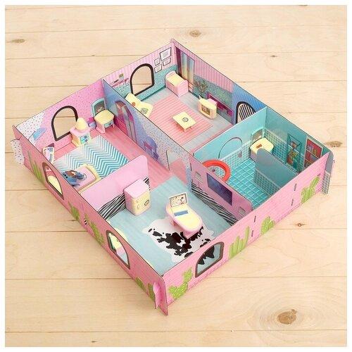 «Кукольный дом» из картона, кукла и аксессуары 4337290