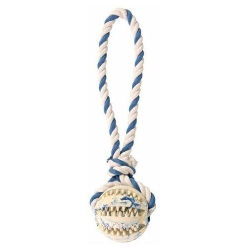 Мяч на веревке Denta Fun, 7 см/24 см, резина /х/б, Trixie (3299)