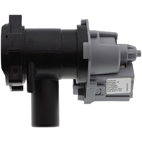 Сливной насос (помпа) Askoll M 221 с улиткой для стиральной машины Bosch (Бош), Siemens (Сименс) 30W