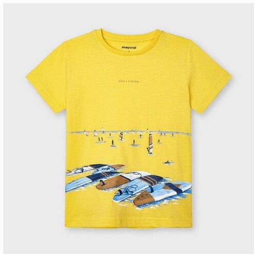 Футболка Mayoral, размер 6(116), желтый футболка mayoral размер 6 116 голубой