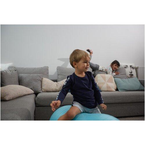 Шорты регулируемые дышащие для детской гимнастики серые DOMYOS Х Decathlon Серый/Синий Графит 113-122cm 5-6Л