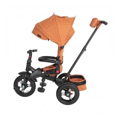 Велосипед Moby Kids 3кол. Leader 360°, 12x10 AIR коричневый, элементы экокожи