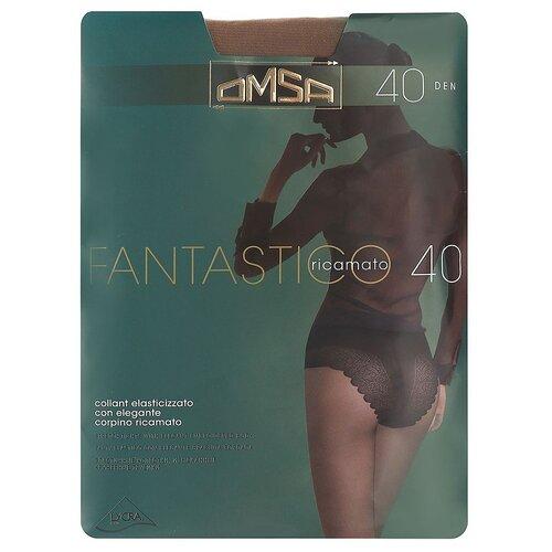 Колготки Omsa Fantastico, 40 den, размер 2-S, caramello (бежевый) колготки omsa beauty slim 40 den размер 2 s caramello бежевый