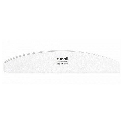 Купить RUNAIL RuNail, пилка для ногтей (белая, полукруглая, 180/200), Runail Professional
