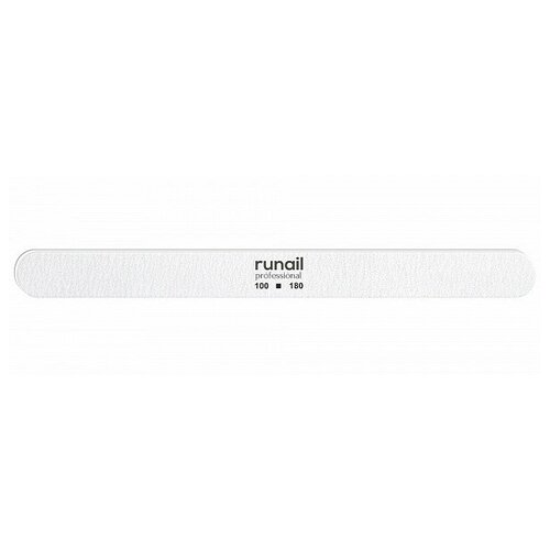 Купить RUNAIL RuNail, пилка для искусственных ногтей (белая, закругленная, 100/180), Runail Professional
