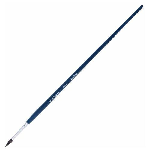 Кисть Белка Круглая Байкал № 8 d-4.5мм L-17мм (удлиненная ручка) 1195617