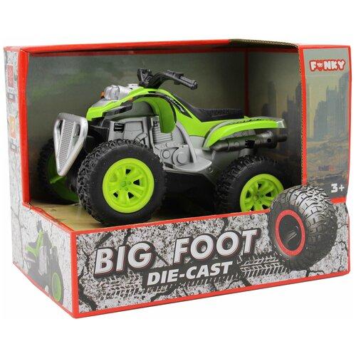Квадроцикл die-cast, инерционный механизм, свет, звук, зеленый, 1:24 Funky toys FT61064