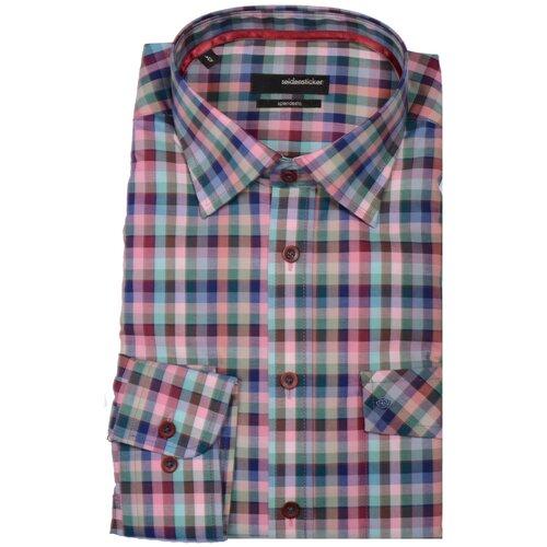 Рубашка Seidensticker размер 40 синий/розовый