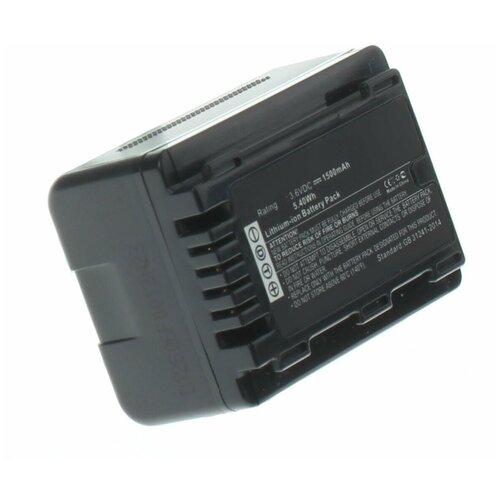 Фото - Аккумулятор iBatt iB-B1-F455 1500mAh для Panasonic VW-VBT190, VW-VBT380, VW-VBY100, VW-VBT380E-K, аккумулятор ibatt ib b1 f457 3400mah для panasonic vw vbt190 vw vbt380 vw vby100 vw vbt380e k