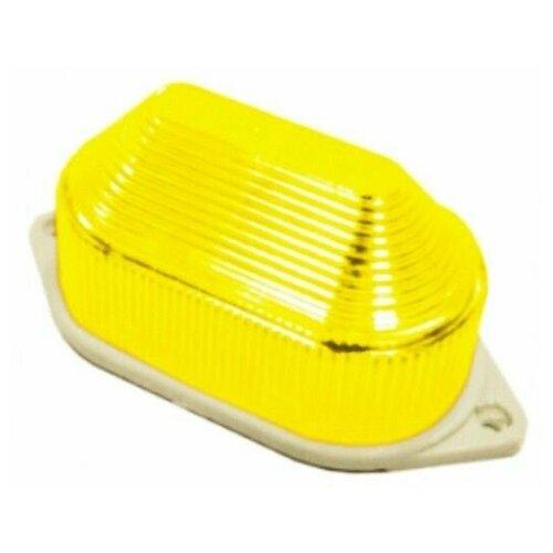 Накладная строб-лампа, 10 LED-огней, 80 вспышек в минуту, жёлтая, 11х5.5х5 см, Торг-Хаус