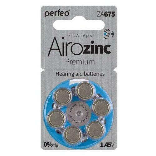Батарейки для слуховых аппаратов ZA675 воздушно-цинковая Perfeo ZA675/6BL Zinc Air 6 шт батарейка perfeo za675 6 шт