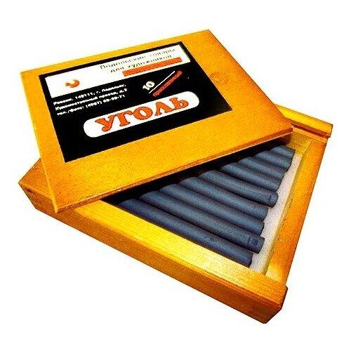 Уголь ПТХ прессованный 10шт деревянный пенал