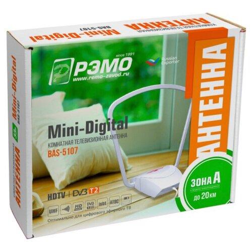 Фото - Комнатная активная антенна REMO BAS-5107-DX MINI DIGITAL (БП, на стекло) комнатная активная антенна remo bas 5326 5v