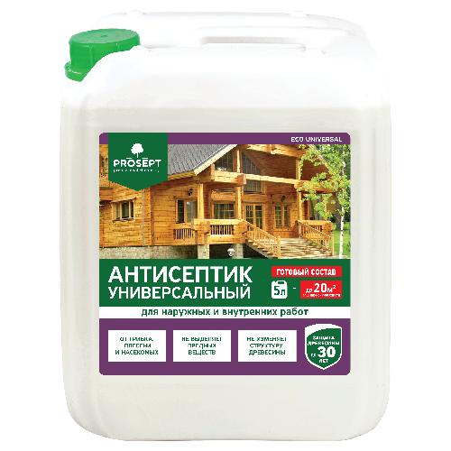 Фото - PROSEPT антисептик Eco Universal, 5 л антисептический грунт для древесины prosept eco universal 5 л