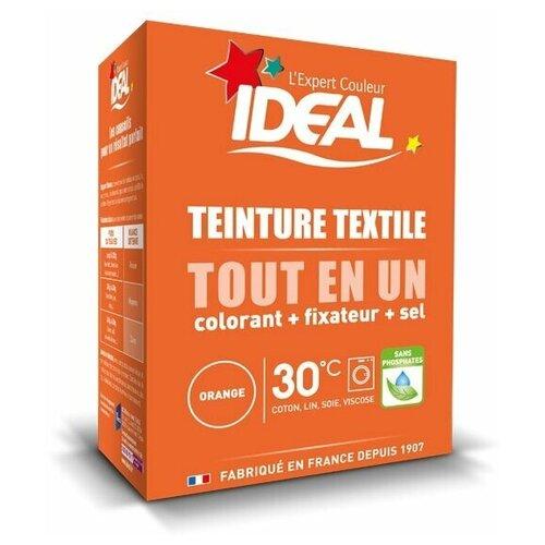 Текстильная краска IDEAL MINI «Все в Одном» для окрашивания одежды и тканей, оранжевая, 230 г.
