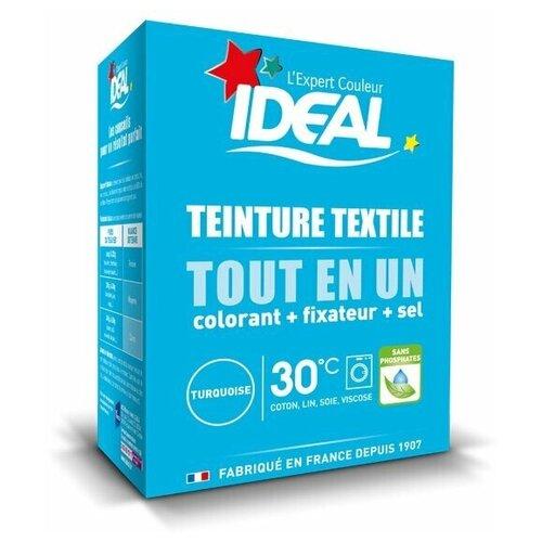 Текстильная краска IDEAL MINI «Все в Одном» для окрашивания одежды и тканей, бирюзовая, 230 г.