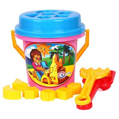 Набор для песочницы игрушки для песочницы технок (лопатка детская, грабли детские, ведерко для песочницы, сортер)