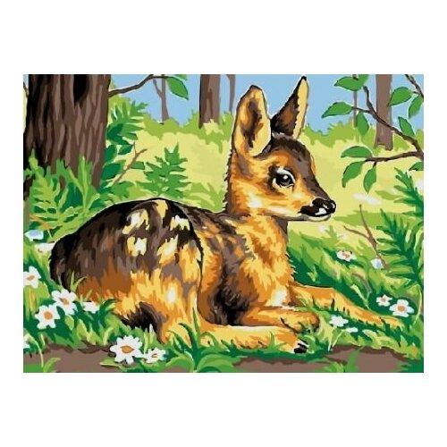 Купить Картина по номерам Paintboy «Олененок» (холст на подрамнике, 30х40 см), Картины по номерам и контурам