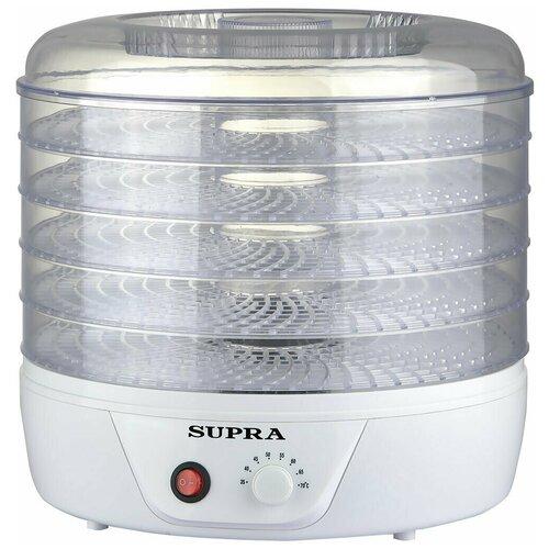 Электросушилка Supra DFS-321 для овощей, фруктов, ягод, грибов и мяса с 5 съемными прозрачными секциями, 350 Вт