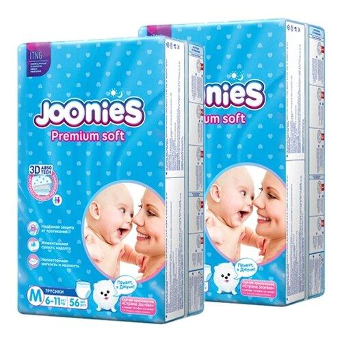 Joonies трусики Premium Soft M (6-11 кг), 112 шт.