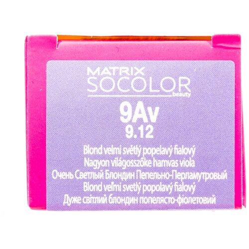 Купить Matrix Socolor Beauty стойкая крем-краска для волос, 9Av очень светлый блондин пепельно-перламутровый, 90 мл