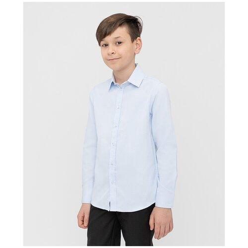 Рубашка Button Blue размер 134, голубой