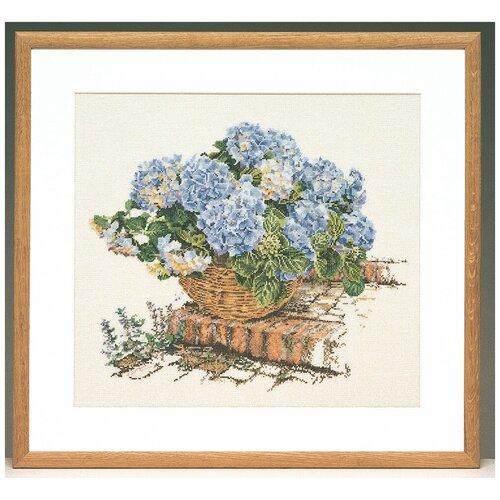 Купить Thea Gouverneur наборы для вышивания 2046А Голубые гортензии 44 х 39 см, Наборы для вышивания