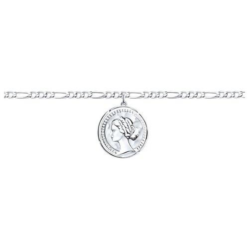 SOKOLOV Браслет из серебра 94050586, 19 см, 7.51 г